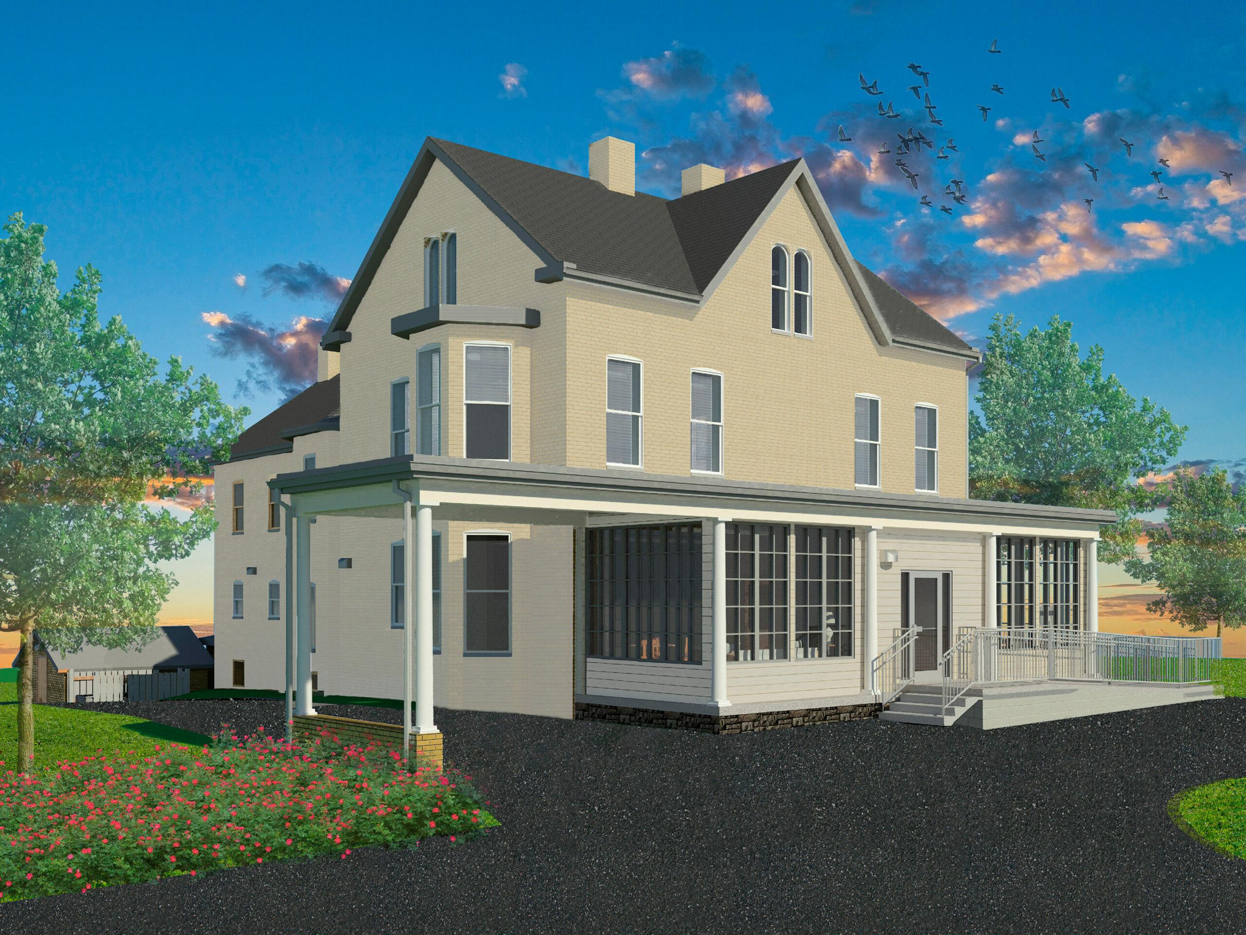 Hayward Farmhouse rendering