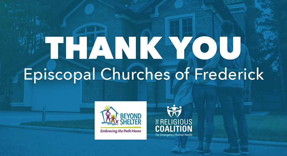 Thank you to all of the Episcopal Churches in Frederick