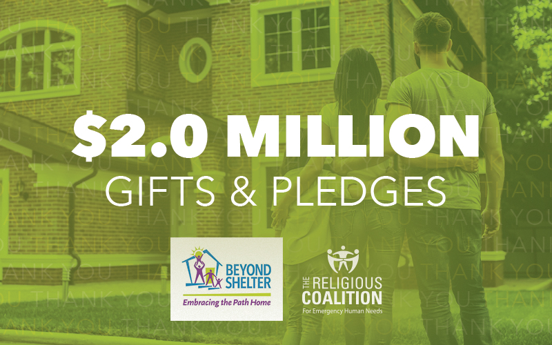 Beyond Shelter Campaign reaches $2.0 million dollars in gifts and pledges