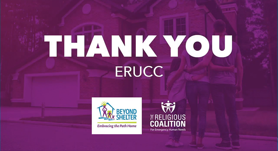 Thank you to Evangelical Reformed Church United Church of Christ